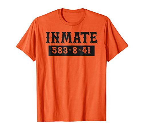 Halloween Inmate Prison Outfit Shirt Kids, Men,