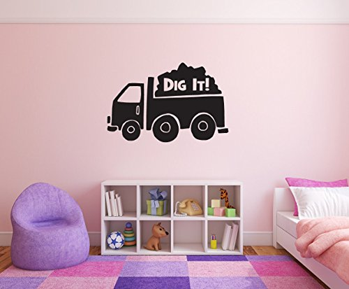 - kdie Dig It! Removable Wall Decal Sticker DIY Art Décor for Home Nursery Kids' Girl's Room Decals