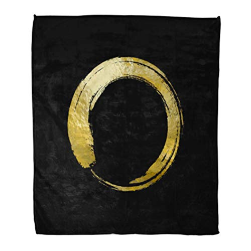 Golee Throw Blanket Black and Gold Templates for Brochures Flyers Mobile Technologies Applications 60x80 Inches Warm Fuzzy Soft Blanket for Bed Sofa
