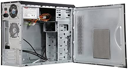 R521-M ROSEWILL Micro ATX Mini Tower Computer Case with PSU steel computer case 400w power supply Front I//O: 2x USB 3.0 and Audio In//Out and 90mm rear case fan