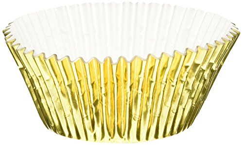 Oasis Supply Baking Cups, Jumbo, 100-Count, Gold Foil