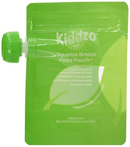 Reusable Food Pouch 6oz (50 Pack) with Spoon - Baby Squeeze Storage Pouches for Homemade and Organic Purees. BPA...