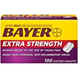 Bayer Extra Strength Bayer 500mg, 100 Count - Pack of 5