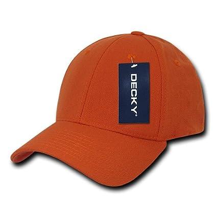 145c76673a8 Amazon.com   DECKY 870-PL-ORN-06 Fitall Flex Baseball Caps