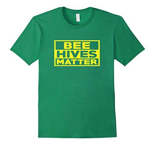 - Mens BEE HIVES MATTER T-SHIRT 2XL Kelly Green