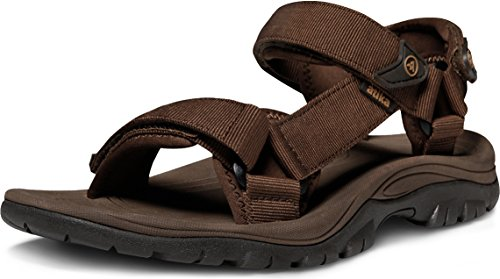 ATIKA Men's Sport Sandals Maya Trail Outdoor Water Shoes, Maya(m111) - Brown, 9