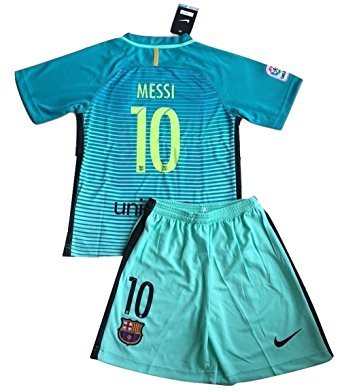 FC Barcelona Champions League Third Jersey & Shorts for Kids/Youth (7-8 Years Old) (Fc Barcelona Champions League)