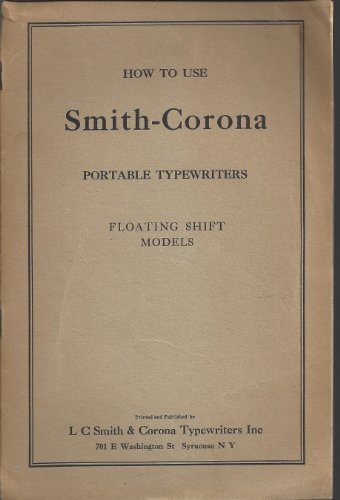 How to Use Smith-Corona Portable Typewriters Floating for sale  Delivered anywhere in USA