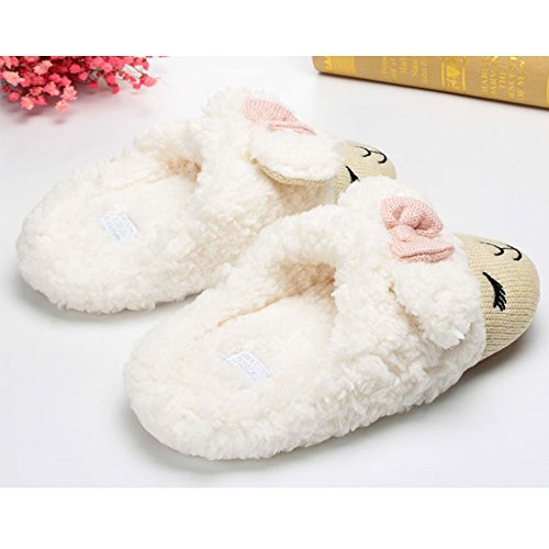 88173d9bc76 60%OFF Womens House Slipper Fuzzy Cute Sheep Cartoon Comfortable Winter  Warm Shoes