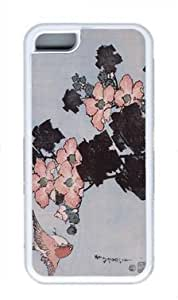 Hibiscus and Sparrow1 Custom Rubber(TPU) white Case for Masterpiece Limited Design iphone 5C by Cases & Mousepads wangjiang maoyi