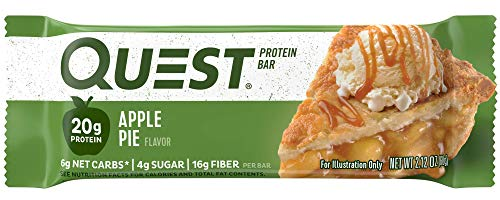 (Quest Nutrition Apple Pie Protein Bar, High Protein, Low Carb, Gluten Free, Soy Free, Keto Friendly,  12 Count)