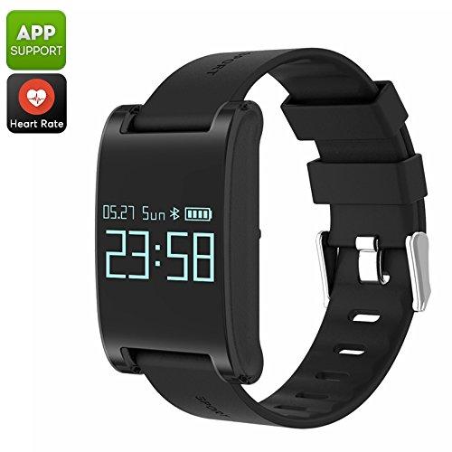MAUBHYA Domino DM68 Bluetooth Smart Bracelet (Black)