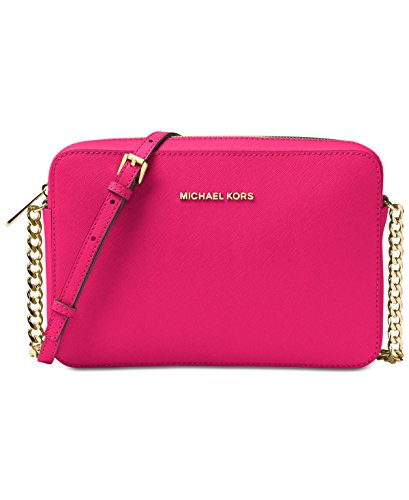 MICHAEL Michael Kors Jet Set Travel Large Crossbody, Ultra - Michael Kors Pink