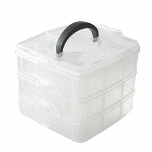 3 Niveles Ajustable Cuenta Joyería, Manualidades Herramienta Organizador De Almacenamiento Contenedor Caja: Amazon.es: Hogar
