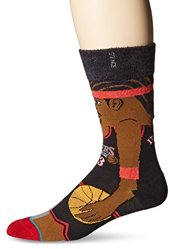 Stance Men's NBA Legends Crew Socks, Iverson, Large/Shoe Size - Stores Outlet Legends