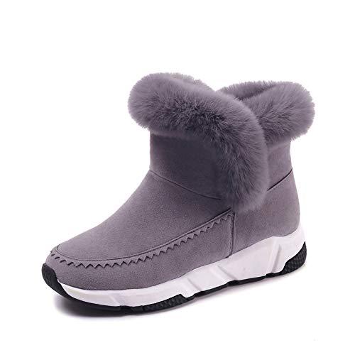 HOESCZS Stiefel Martin Winter Schwarze Hohe Baumwolle Schuhe Damenmode Kurze Röhre Schneeschuhe Mode Wilden Studenten Plus Baumwolle