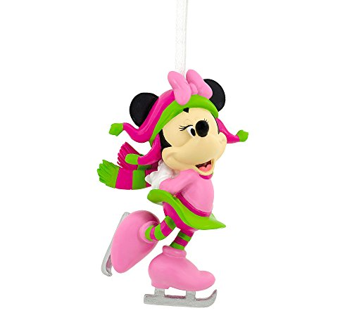 Candy Cane Stripe Mouse - Disney Minnie Mouse Skating Ornament by Hallmark