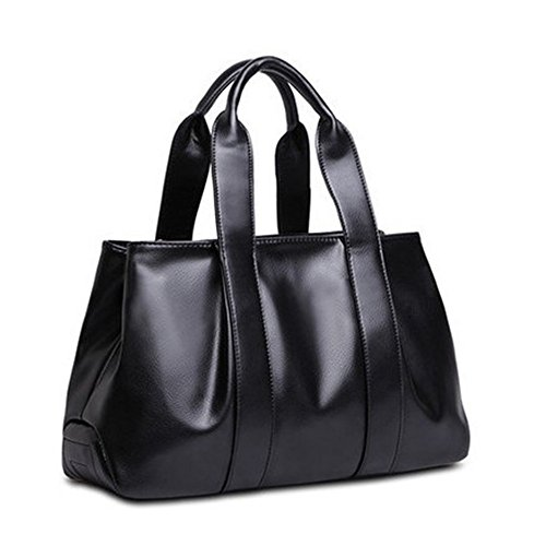 Ms model method large women's PU and vintage ladies' shoulder R Black kinds burst European fashion bag handbag three dumpling American back capacity bags JVPS15 messenger leather 2018 bag bag wCatISq