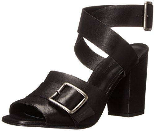 Delman Women's D-Carly-V Dress Sandal, Black Soft Vachetta, 7.5 M US Delman Leather Heels