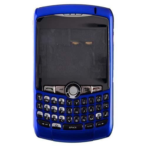 Housing (Complete) for BlackBerry 8300, 8310, 8320 Curve (Dark Blue) with Glue Card