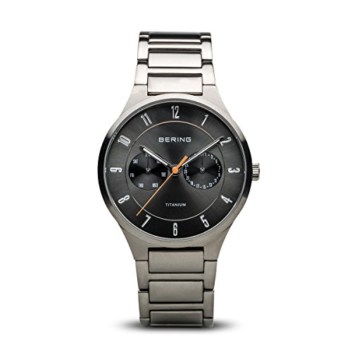 BERING Time 11539-779 Mens Titanium Collection Watch with Titanium Band and Scratch Resistant Sapphire Crystal. Designed in Denmark. from BERING