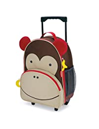 Skip Hop Zoo Little Kid & Toddler Rolling Luggage, Marshall Monkey