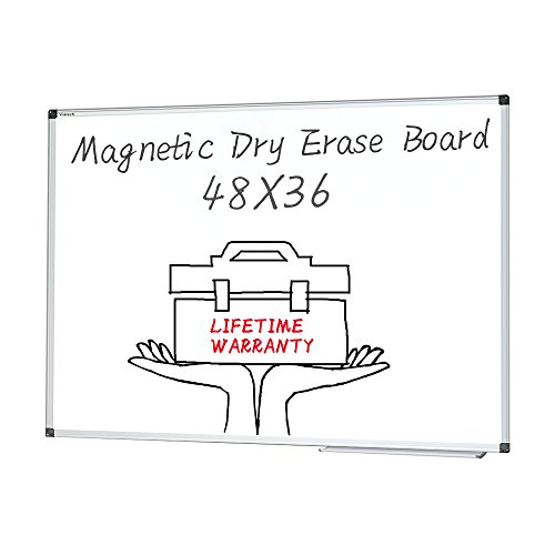 Magnetic White Board 48x36 inches Dry Erase Board (48x36)