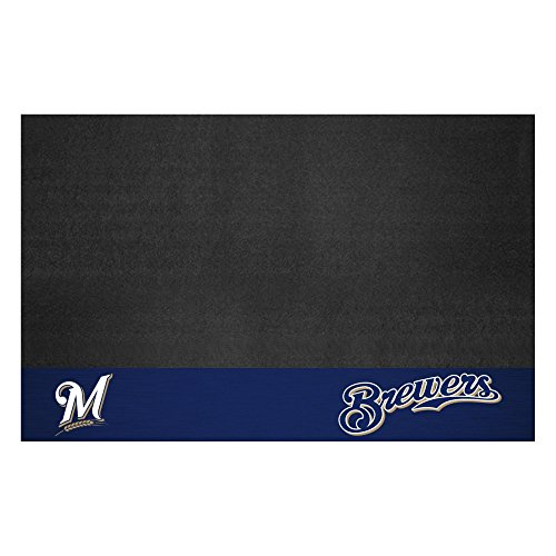 FANMATS MLB Milwaukee Brewers Vinyl Grill Mat