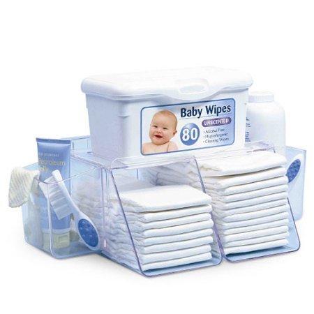 Diaper Organizer Depot (Prince Lionheart Dresser Top Diaper Depot Organizer (Set of 2))