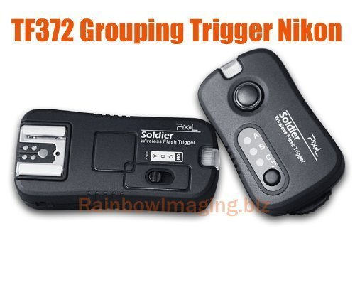 Pixel TF-372 Soldier Wireless Grouping Flash Trigger Control for Nikon Cameras and Flashes (Black) by PIXEL