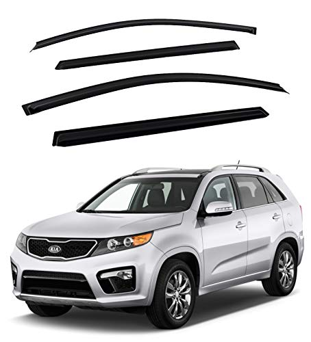 Safe Smoke Window Visor Sun Rain Vent Guard 4 Pcs Set for 2010~2015 KIA Sorento Out Channel Visor
