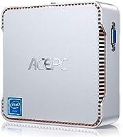 ACEPC Mini PC, 6 Go de RAM + 128 Go de ROM, Intel Celeron J4125 (jusqu'à 2,7 GHz) Mini Ordinateur de Bureau Windows 10...