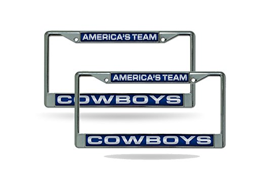 (Rico Dallas Cowboys Americas Team Chrome Metal (2) Laser Cut License Plate Frame)