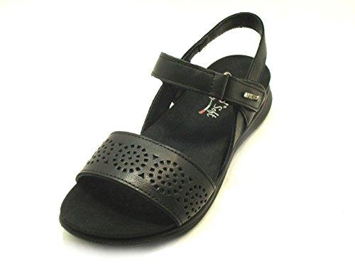 ENVAL SOFT DONNA Sandalo zeppa Art79620 NERO