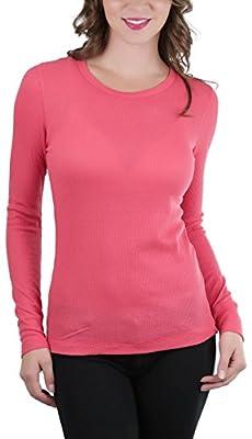 ToBeInStyle Women's Long Sleeve Crew Neck Thermal Top