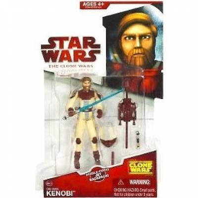 (Hasbro Star Wars Clone Wars Animated Action Figure Obi-Wan Kenobi In Space Suit)