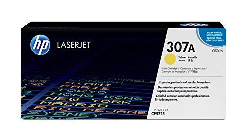 HP 307A (CE742A) Yellow Toner Cartridge for HP Color LaserJet CP5225