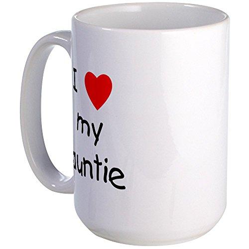 CafePress I Love My Auntie Large Mug Coffee Mug, Large 15 oz. White Coffee Cup