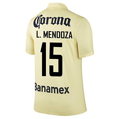きらめきクモ送金Nike L. Mendoza #15 Club America Home Jersey 2014-15 YOUTH/サッカーユニフォーム クラブ?アメリカ ホーム用 L. メンドーサ 背番号15 ジュニア向け