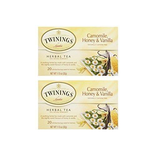 Twinings Honey & Vanilla Chamomile, 20 ct (Pack of 2)