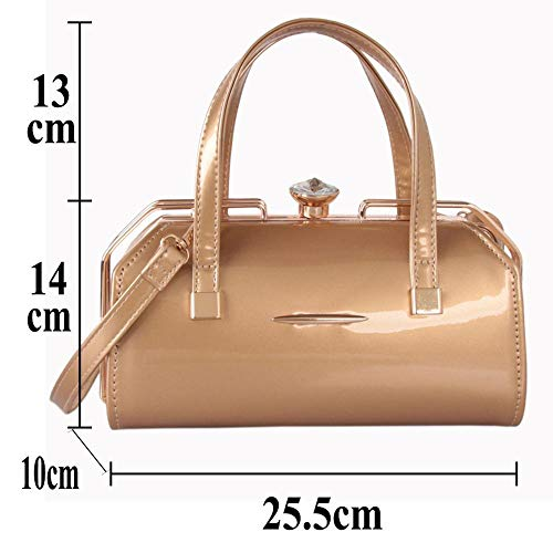 Sac 14 Lady Main à Sac à Sac 5 Fashion épaule Sxuefang Cuir PU Verni Lumineux Simple Paquet Main Cuir Main cm A 10 25 Messenger w10dqtxnEn