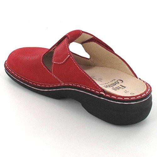 Finn Comfort - Zuecos de Piel para mujer rojo Signalred