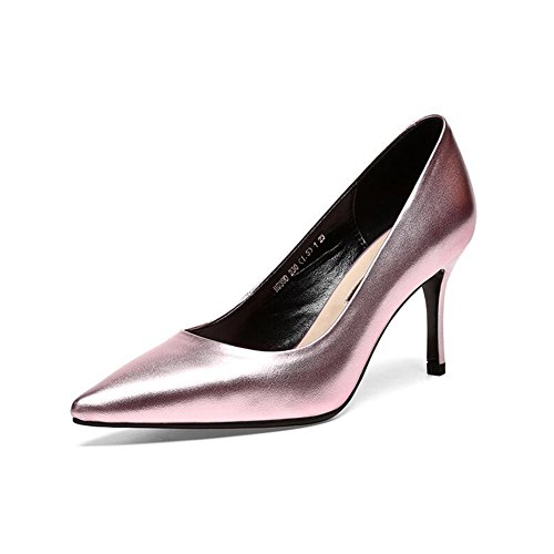 C Bocca Pointed Eu35 pelle Little uk3 Donna alto Banquet in Deep Shoe C Colore Cjc Bene Tacco Misura Fashion 46wEqgXEx