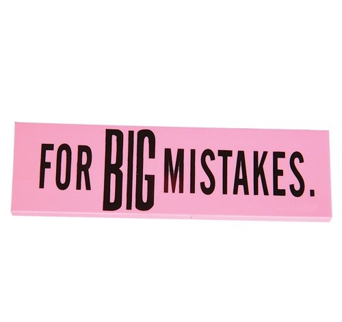 5.5'' x 1.5'' x .25'' BIG MISTAKE ERASER, Case of 240