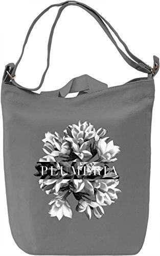 Plumeria Borsa Giornaliera Canvas Canvas Day Bag| 100% Premium Cotton Canvas| DTG Printing|