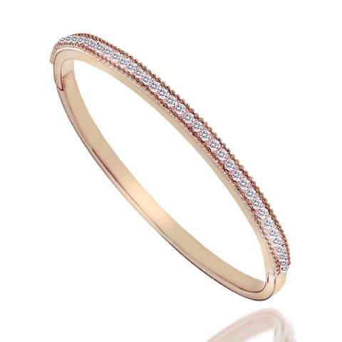 Belle Sparkle Bracelet plaqué or Rose 18 carats