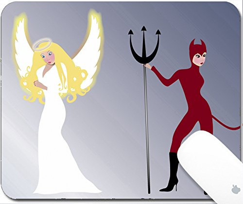 Luxlady Gaming Mousepad illustration of glowing angel and seductive she devil 9.25in X 7.25in IMAGE: (She Devil Costumes Ideas)