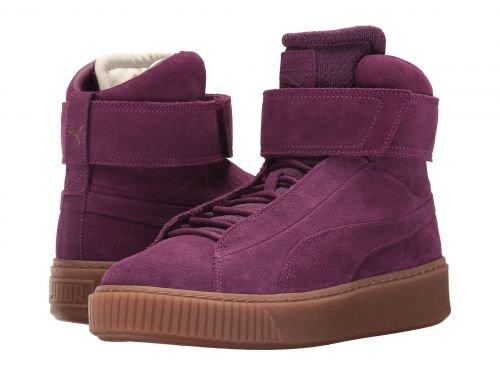 陰謀手を差し伸べるしばしばPUMA(プーマ) レディース 女性用 シューズ 靴 スニーカー 運動靴 Puma Platform Mid OW - Dark Purple/Dark Purple [並行輸入品]