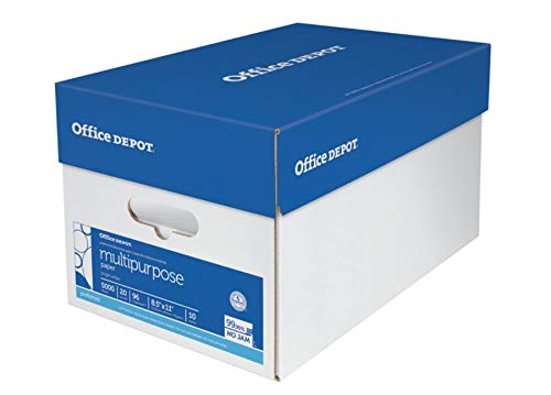 Office Depot Brand Multipurpose Paper, Letter Size, 96 Brightness, 20 Lb, 500 Sheets Per Ream, Case of 10 Reams by Office Depot (Image #3)