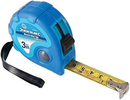 Silverline 675126 Maßband, 3 m x 16 mm (Box of 1), blau